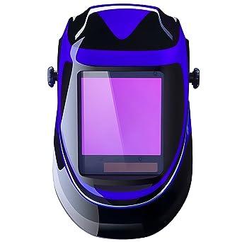 DEKO Casco de soldadura automática por energía solar de profundidad profunda Casco de oscurecimiento automático con