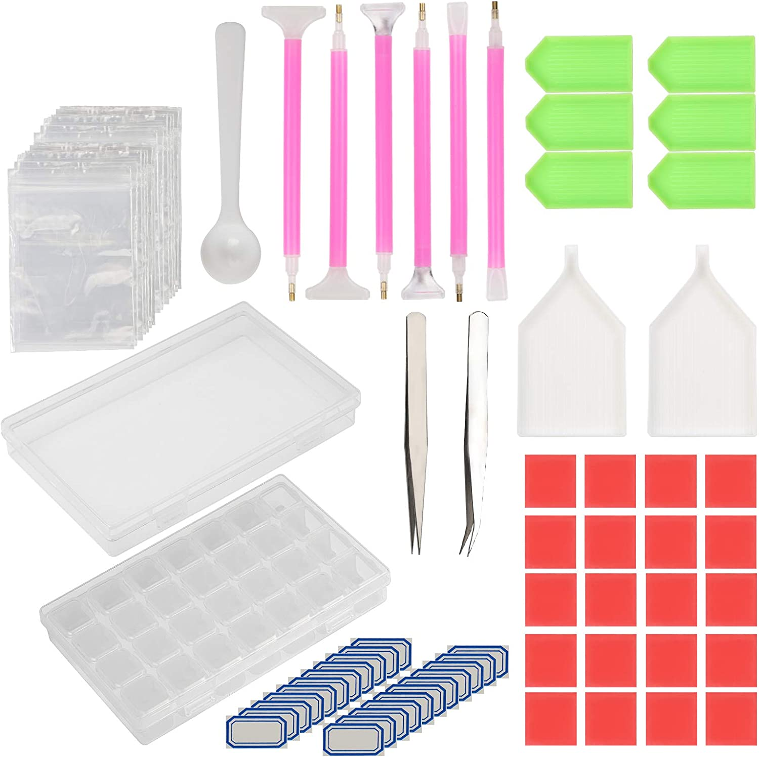 KAKOO DIY 5D Diamond Painting Werkzeug Set 134tlg