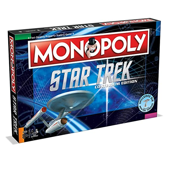 Monopoly Star Trek Continuum Edition Family Board Game ...
