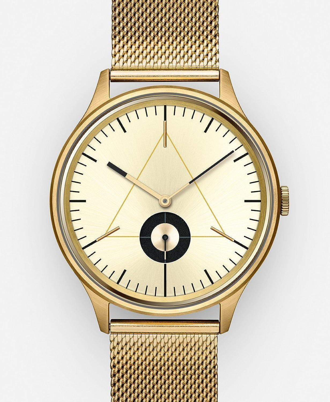 Cronometrics The Architect S17 Goldfarbend mit goldenem Milanesearmband