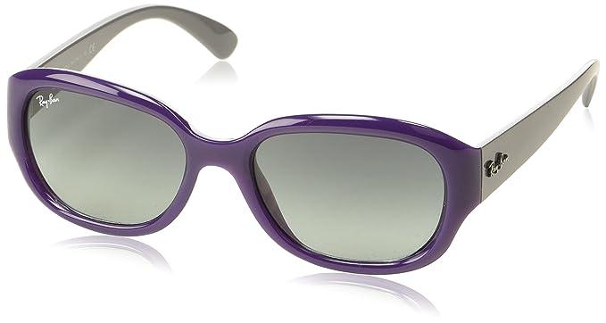 Ray-Ban 0RB Highstreet 604671 55, Gafas de Sol para Mujer, Morado (