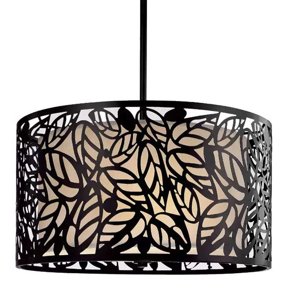Drum chandelier lighting suitable for high and low ceiling rooms 16 round hanging lamp provides warm multidirectional lighting versatile circular