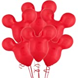 """15"""" Mouse Ears Red Latex Balloons (6)"""
