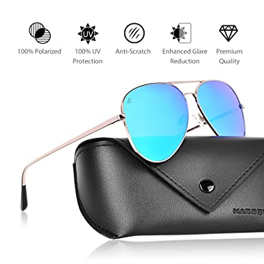 Amazon.com  Polarized Aviator Sunglasses - Force Durable Mirrored Lens For  Mens Womens UV400  Clothing 258c73d044