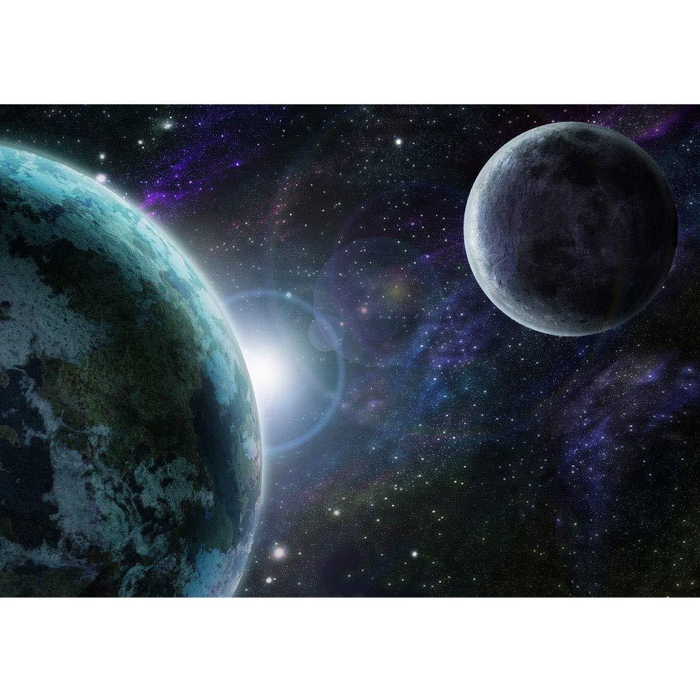 Vlies Fototapete 350x245 cm PREMIUM PLUS PLUS PLUS HiQ - OEKO-TEX Standard 100 Wand Foto Tapete Wand Bild Vliestapete - Weltraum Erde Mond Weltall - no. 0229 B07N1NP6C5 Wandtattoos & Wandbilder ad8e4d