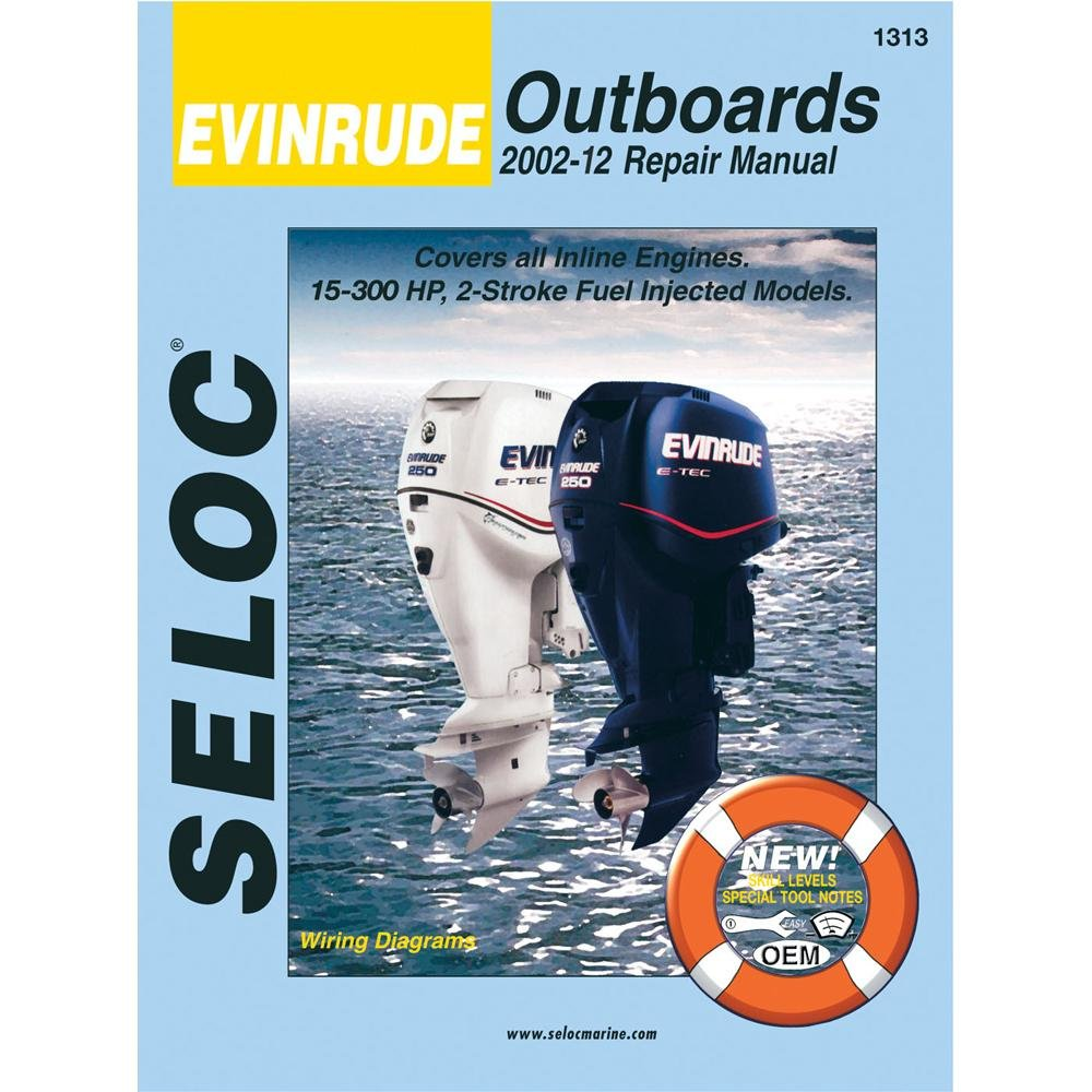 Amazon.com : EVINRUDE Engine Repair Manual, 40-250 HP 2 & 4 Stroke Fuel  Injected, 2002 - 2006 : Boating Gps Accessories : Sports & Outdoors