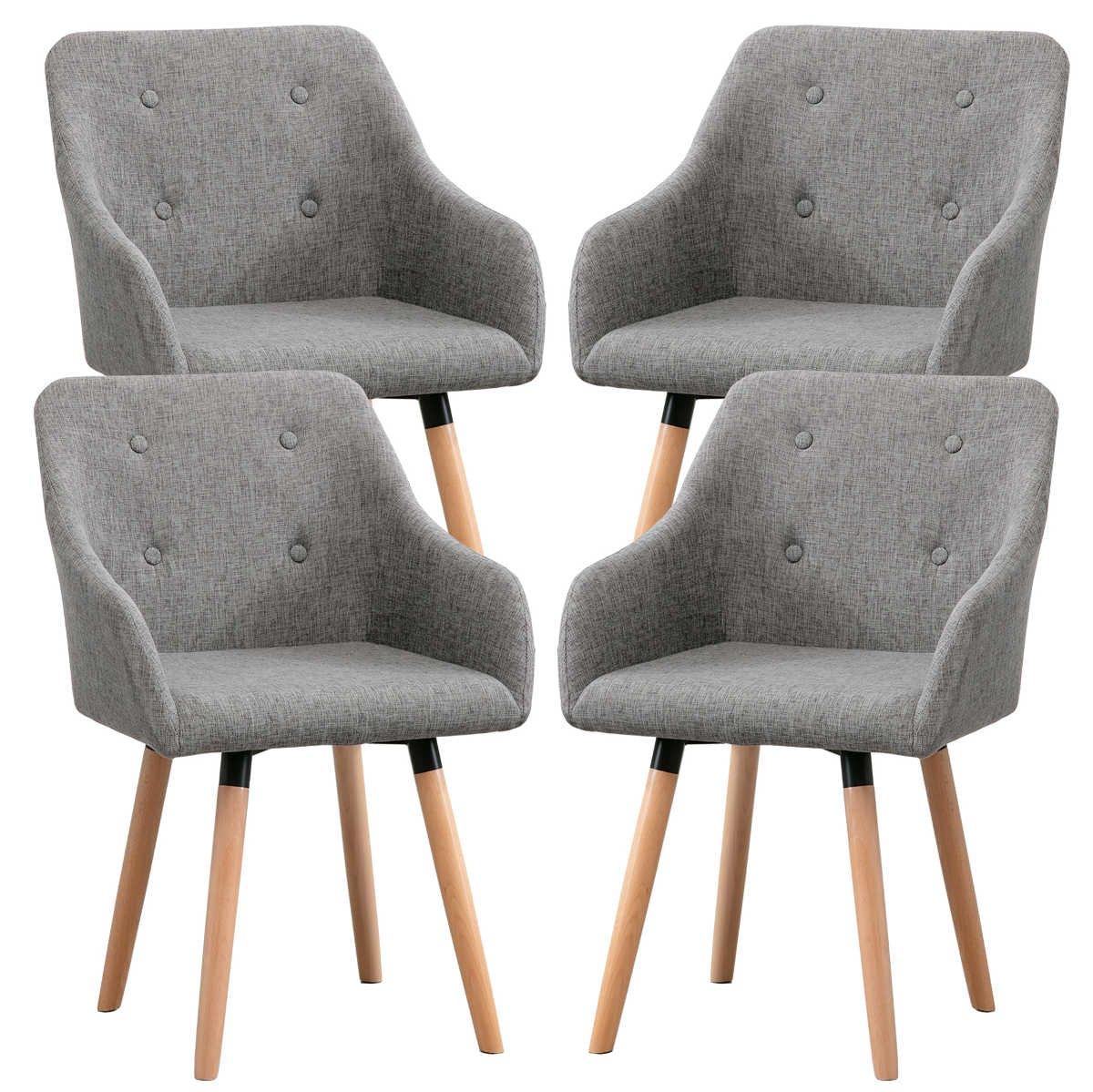 6 Esszimmerstühle Mit Stoffbezug - Design