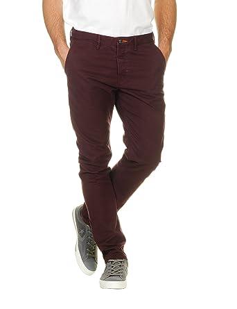 Homme Bordeaux Unique Superdry Rouge Small Taille Pantalon Rouge fwxaz