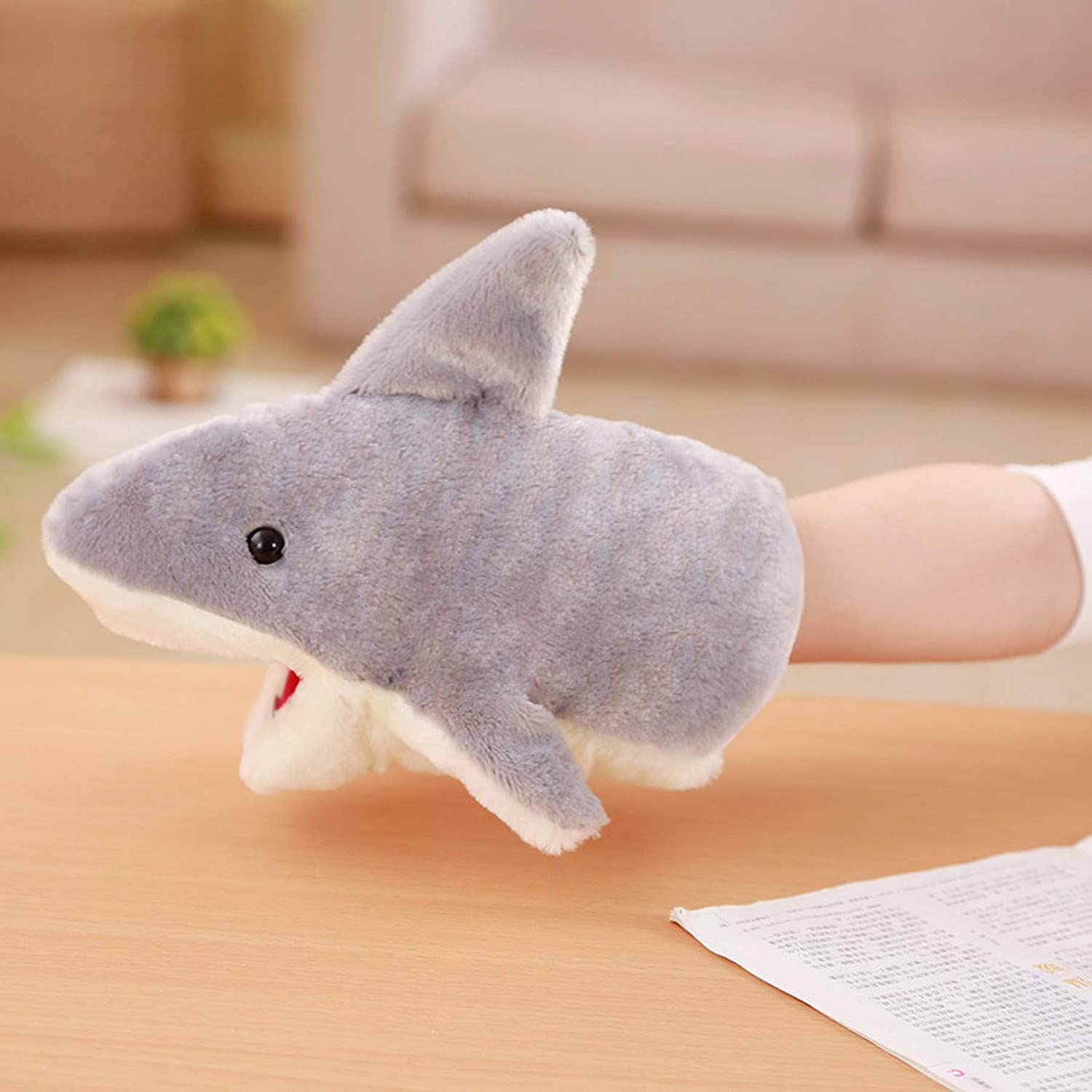 Baby Shark Puppet Very Soft Plush Shark Toys Doll Women Hand Warmer Gloves Great White Shark