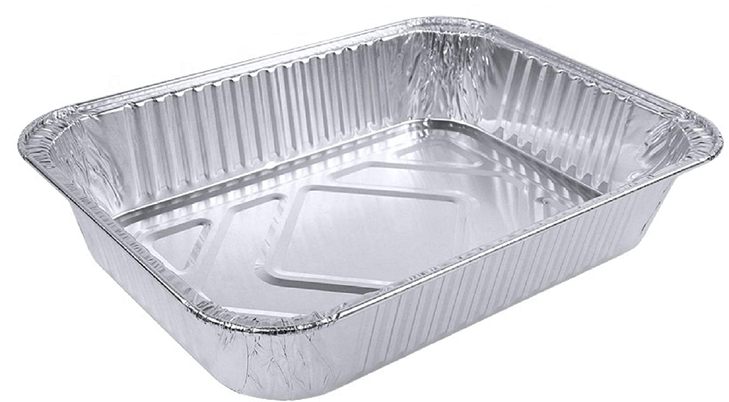 Aluminum Foil Grill Drip Pans Set of 15 Pack-Disposable Steam Table Deep Trays-Meal Cooking,Baking,Roasting,Broiling,Heating Buffet Trays Tin Pans-Half Size Chafing Pans 9 x 6 x 2 inch