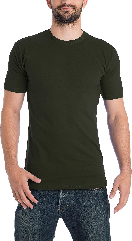 Lower East Men's T-Shirt, Pack of 5 Dark Green