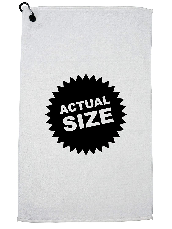 Hollywood Thread 面白い 実サイズ ロゴ アイコン ゴルフタオル カラビナクリップ付き   B07GGSB2CP