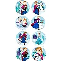 16 Mini discos de azúcar Frozen 3,4 cm