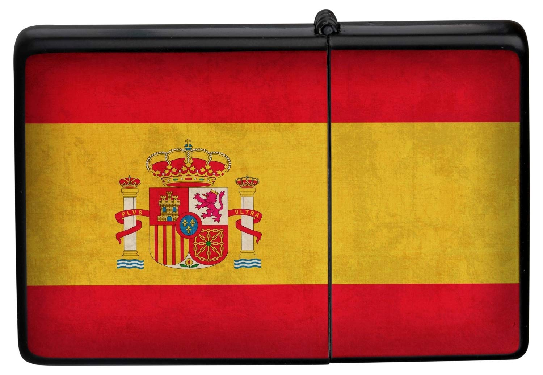 Encendedor De Gasolina Impreso Recargable bandera de España: Amazon.es: Hogar