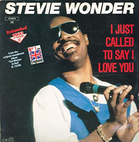 Stevie Wonder - I Just Called To Say I Love You - Motown - ZC ...