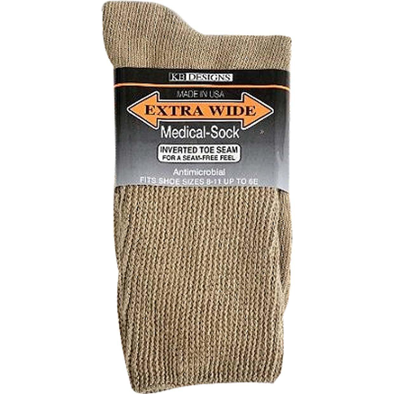 Extra Wide Medic Socks 11/16 6 pair for 48.99 (Khaki)