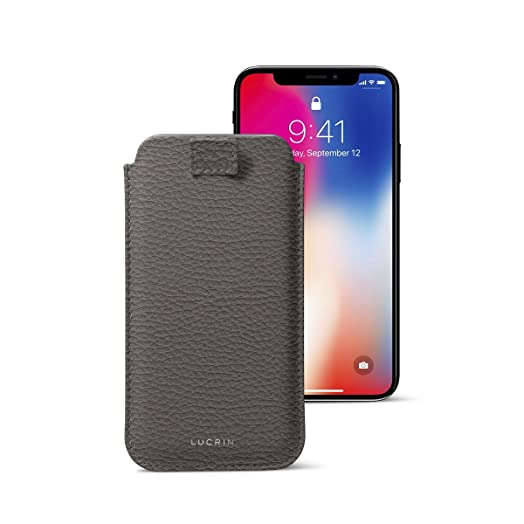 separation shoes e9cc4 de2d7 Lucrin - iPhone X Ultra Slim Sleeve with Pull Tab, Protective Soft ...