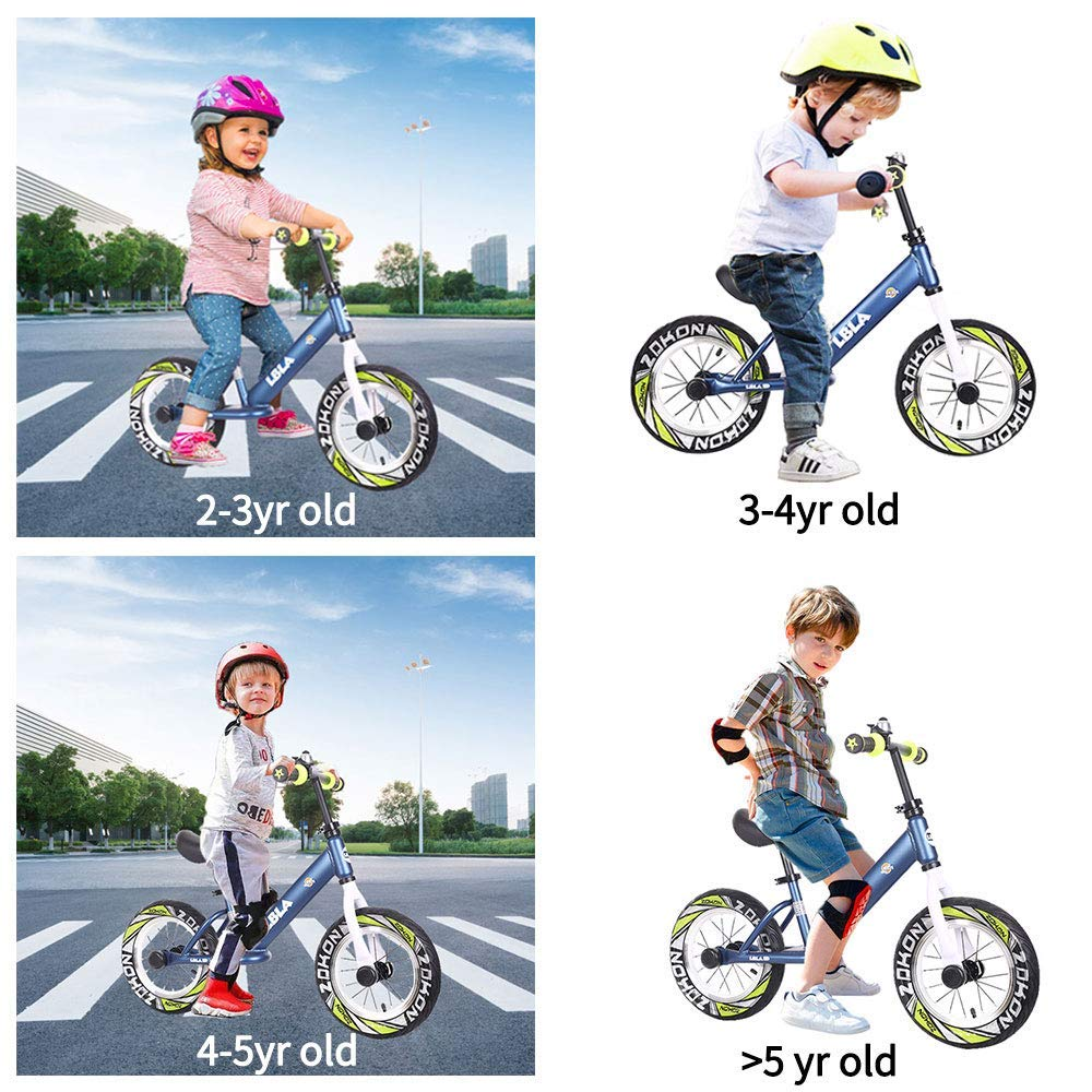 Kids Balance Bike, No Pedal Baby Mini Bike, Ride on Scooter, 12'' Bicycle for Children Riding Toy Baby Walker Push Car Walking Buddy Bike for Baby Kid Toddler Indoor Outdoor Activities Ages 3-6 by Beebeerun