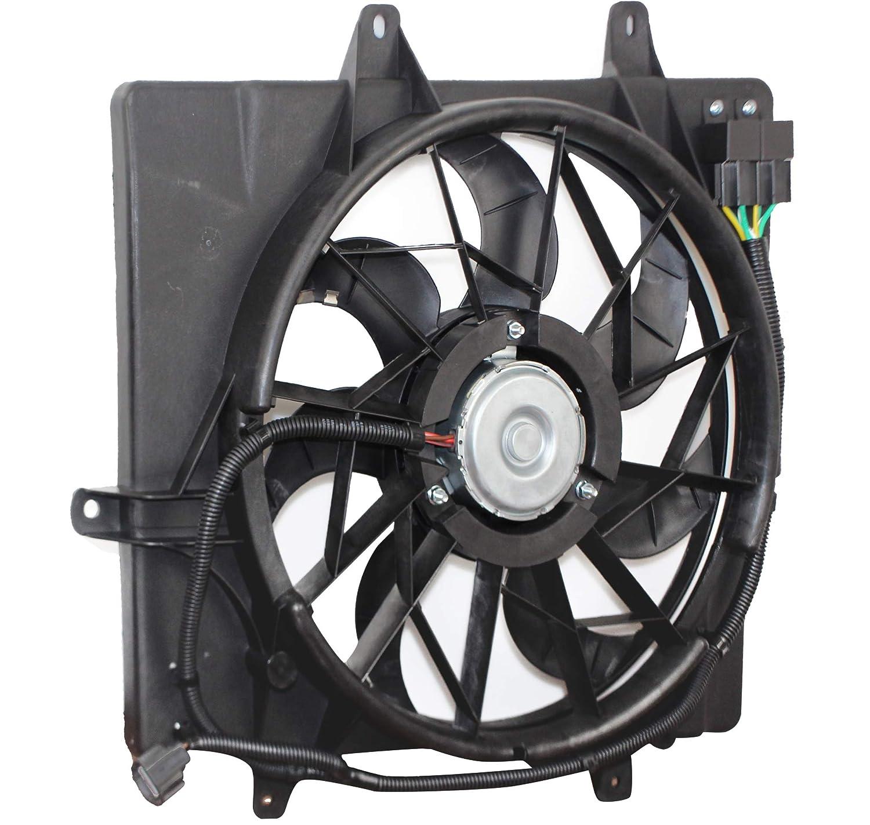 MYSMOT Radiator Cooling Fan Assembly For Chrysler PT Cruiser 2006-2010 (excluding Turbo Models) 5179470AA