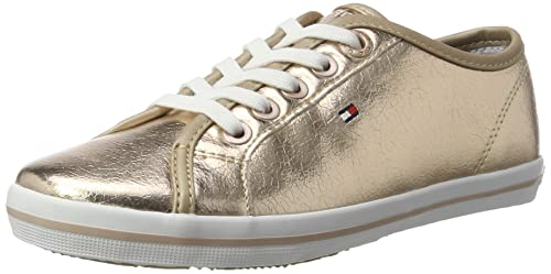 Tommy Hilfiger FG0FG00054, Zapatillas Mujer, Dorado (Rose Gold), 39 EU: Amazon.es: Zapatos y complementos