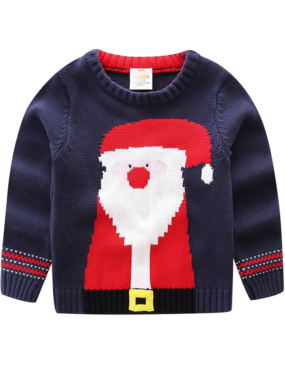 Zoulee Children's Fireplace Lovely Sweater For Christmas Best Gift Fit Style 1 Height:130cm//51.18''