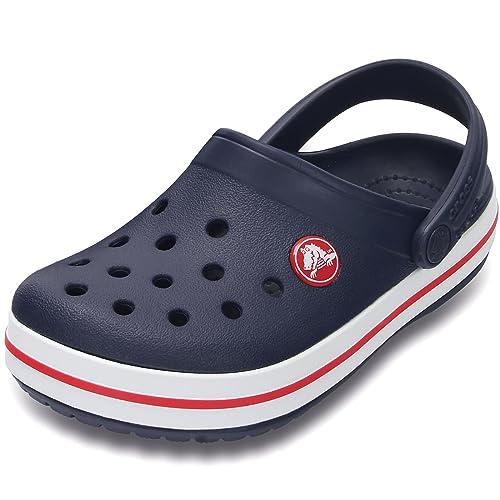 c64c3eb3 Crocs Crocband Kids, Child Clogs, navy, 34-35 (J3): Amazon.co.uk ...