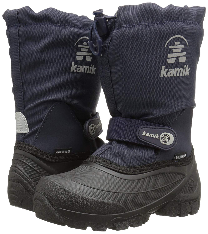 Kamik Snoday Insulated Winter Boot (Toddler/Little Kid/Big Kid), Dark Navy, 12 M US Little Kid by Kamik (Image #3)