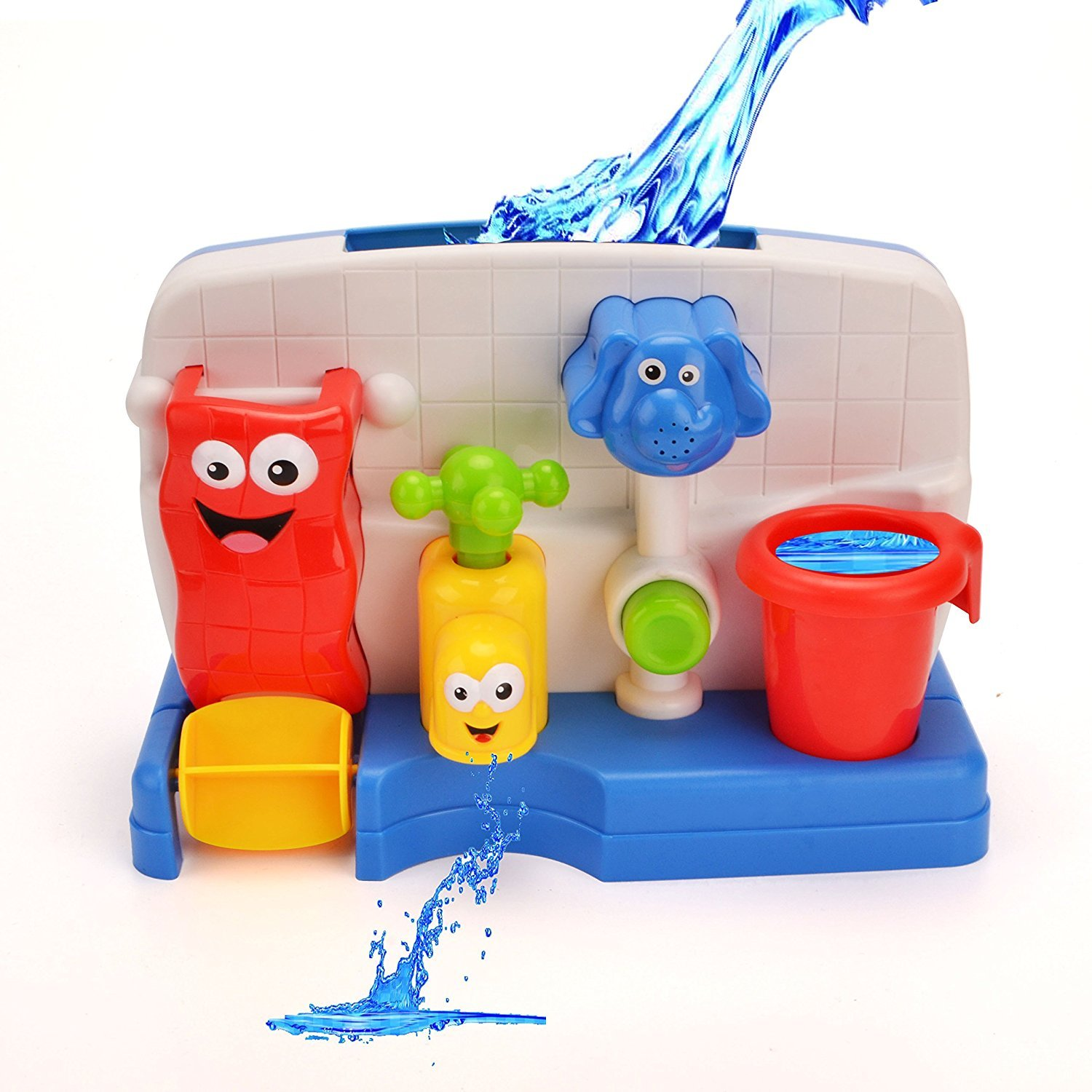 Funny Bath Toys for Boys and Girls with Water Sprinkler System -Early Education Interactive Bathroom Toys
