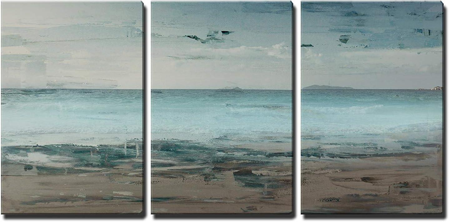 Seascape with Beach Horizon - Canvas Art Wall Art - 24