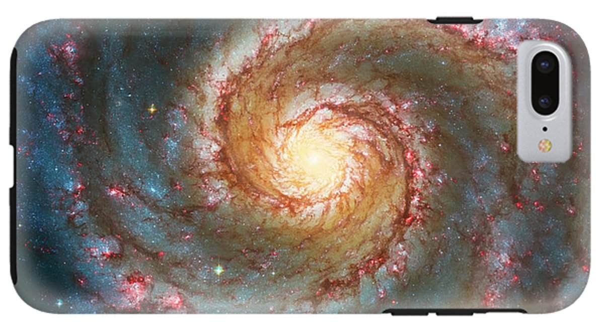 iPhone 8 Plus Case ''Whirlpool Galaxy'' by Pixels