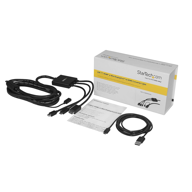 StarTech.com BOX4HDECP Conference Table Connectivity Box HDMI//VGA//Mini DisplayPort to HDMI Output