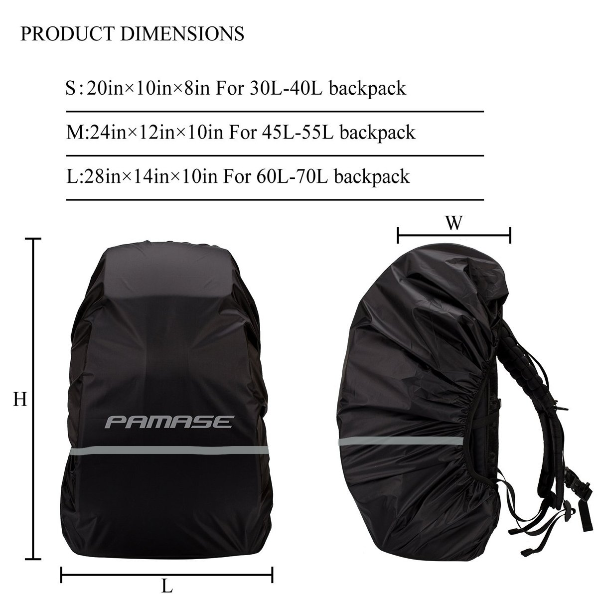 de56744c6a52 Mua sản phẩm PAMASE Waterproof Backpack Pack Rain Cover 30-70L with ...