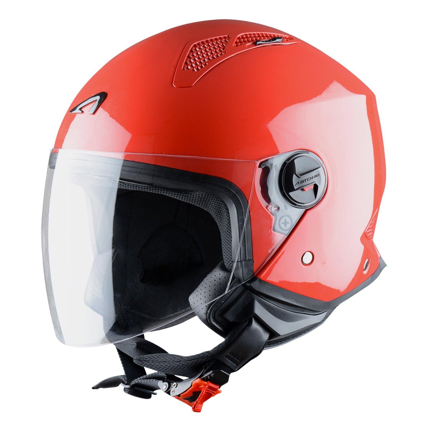 Astone Helmets Army Casque moto et scooter compact Casque jet urbain MINIJET monocolor- Casque jet Coque en polycarbonate