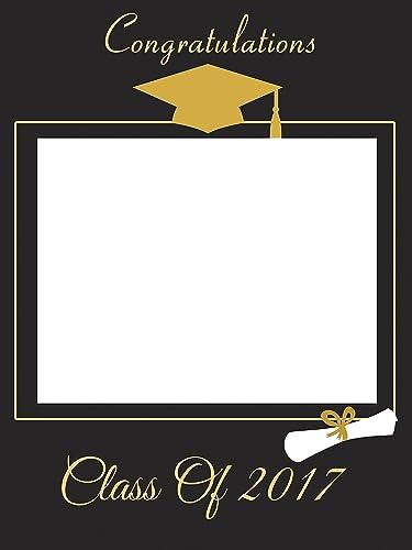 Amazon.com: Custom Home Décor Graduation Photo Booth Frame Prop ...