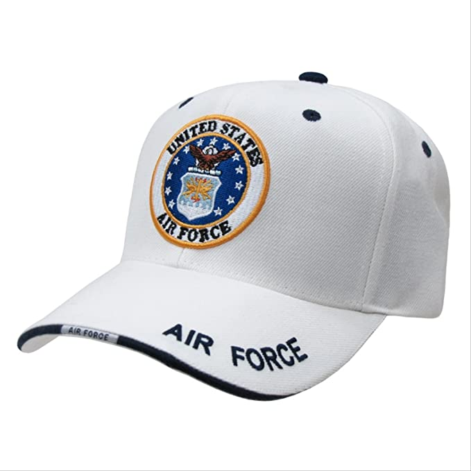 608bcd2a7f7 Amazon.com  Rapid Dom White US Military Branch Logo Baseball Caps ...