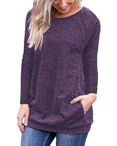 Amazon.com: Uniboutique blusas de manga corta para mujer ...