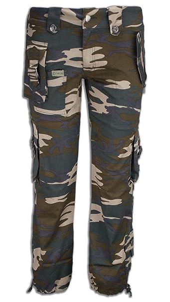 02dfb3763797f NEW Women Capri Cargo Camo Pants Side Pockets Green ALL SIZES ...