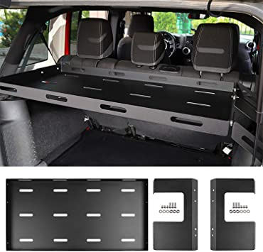 Hooke Road Front Dashboard Tray Storage Box Container Organizer for 2018-2019 Jeep Wrangler JL Sport Sahara Rubicon Sport S