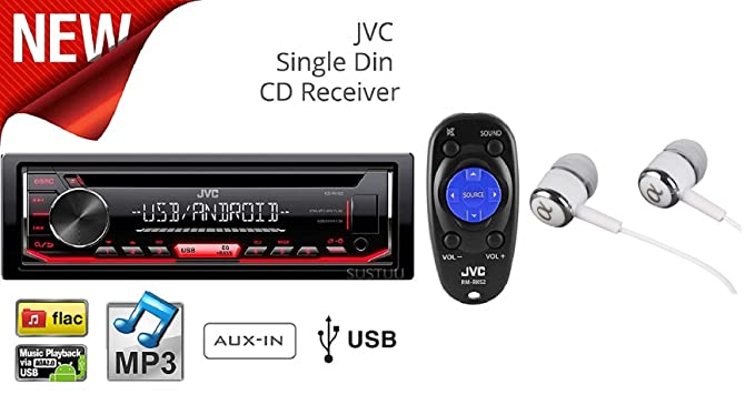Amazon.com: JVC KD-R492 Single DIN In-Dash CD AM/FM w/Android/iPod on