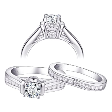 Other Fine Rings Lovely Womens 925 Sterling Silver Cz 6 Prongs 5.5mm Engagement Ring