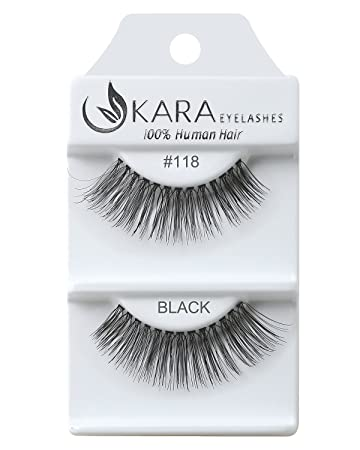 792e7efc508 Amazon.com : Kara Beauty Human Hair Eyelashes - 118 (Pack of 12) : Beauty