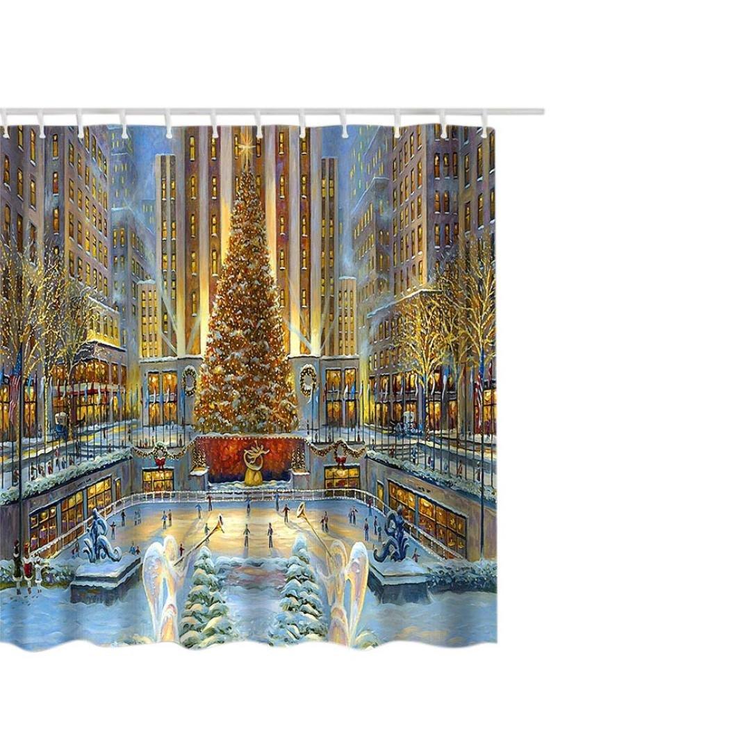 SYY Weihnachtswasserdichter Polyester-Badezimmer-Duschvorhang-Dekor ...
