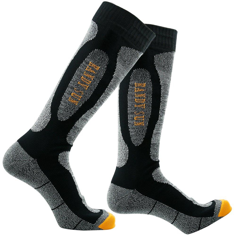 RANDY SUN Novelty Socks, [SGS Certified] Unisex Novelty Waterproof Socks for Cold Weather Black&Grey by RANDY SUN