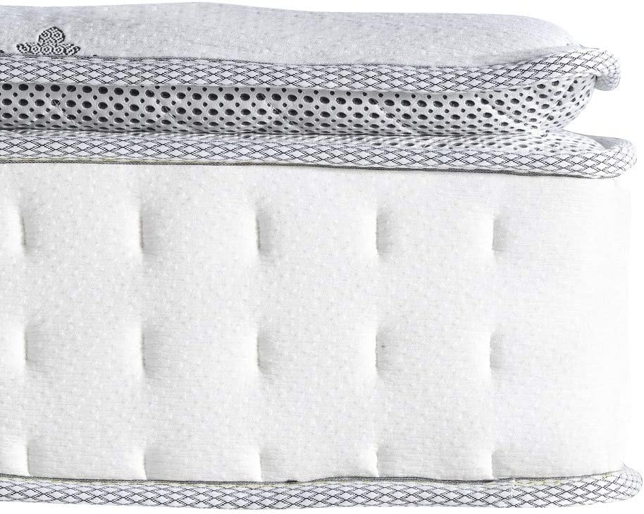 Several layers that make up a hybrid mattress