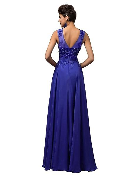 Quissmoda vestido corto largo fiesta, noche, gala, talla 50, color azul: Amazon.es: Ropa y accesorios