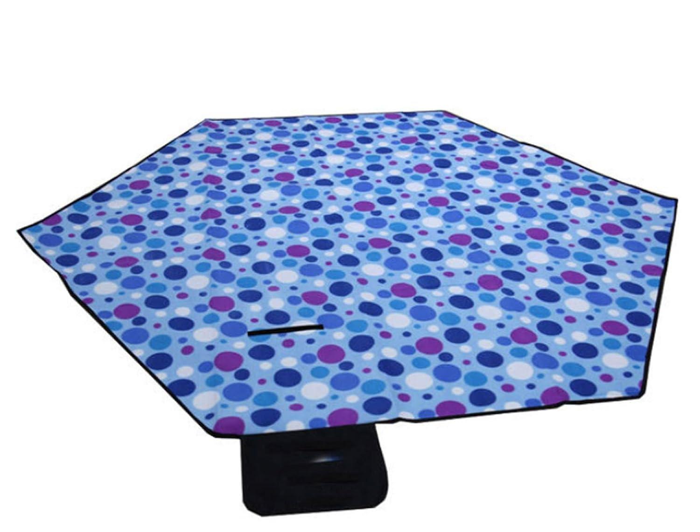 Picknick Im Freien Matte Dicke Feuchtigkeit Hexagonal Zelt Isomatte,BlueDots