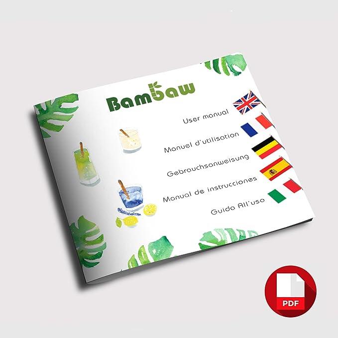 Bambaw Pajitas de Bambú | Pajitas Reutilizables | Fabricadas en ...