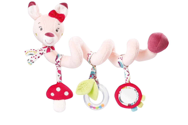 Fehn 081343 Activity-Spirale Affe/Stoff-Spirale zum Greifen und Fühlen für Bett, Kinderwagen, Laufgitter anpassbar/Für Babys und Kleinkinder ab 0+ Monaten/Maße: 30 cm lang