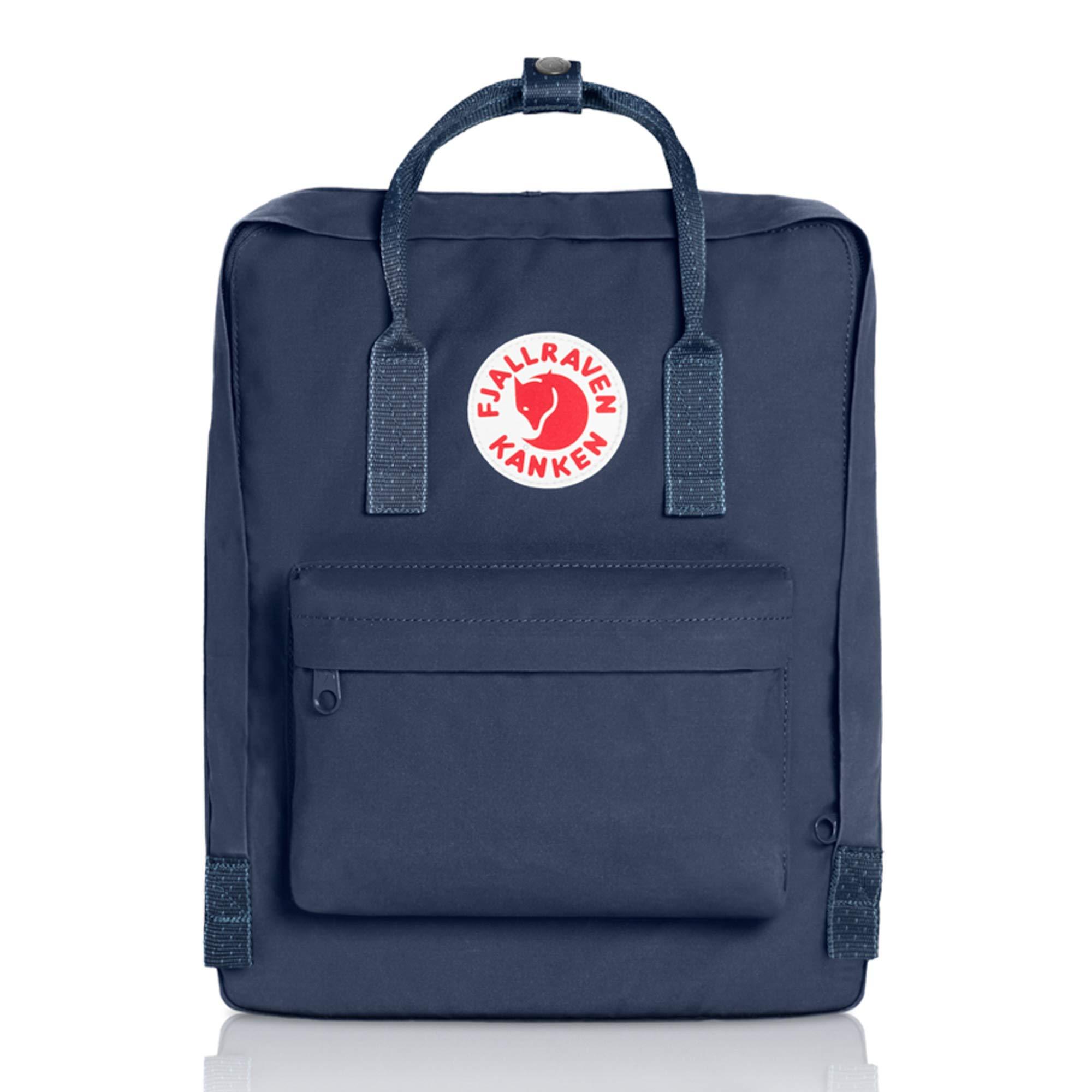 Fjallraven Men's Kanken Backpack, Royal Blue/Pinstripe, One Size by Fjallraven (Image #1)
