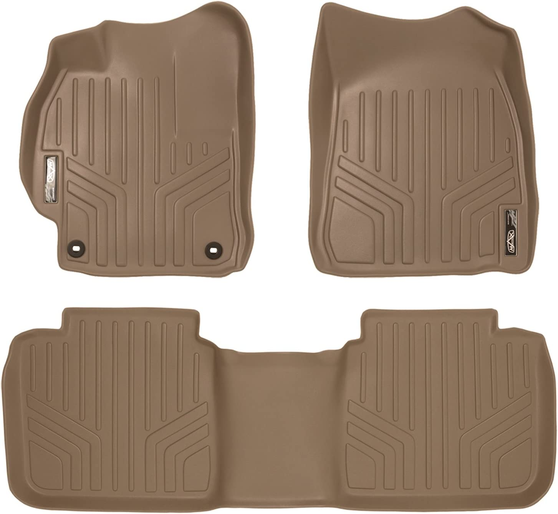 All Models SMARTLINER Custom Fit Floor Mats 2 Row Liner Set Tan for 2012-2015 Toyota Camry